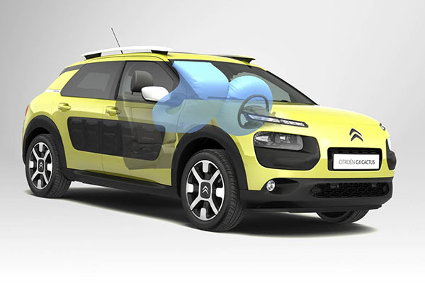 citroen cactus-airbag in roof